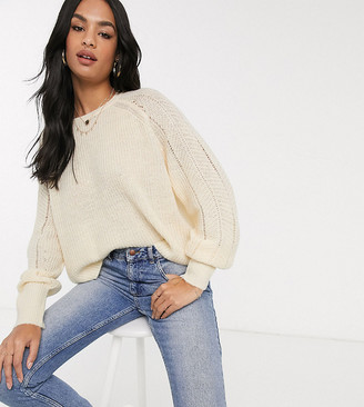 M Lounge Micha Lounge relaxed jumper in pointelle knit