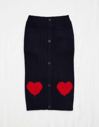aerie Ware Of The Dog Heart Cardigan - Navy