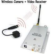 World Electronics Onedayshop® Brand New 1/4 Inch Cmos 380 Tv Lines Micro Wireless Pinhole Color Camera + Wireless Video Receiver Sets, Covert Security Surveillance for Your House / Home / Office, Also Can Be Used As a Baby Monitor