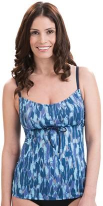 Women's Dolfin Aquashape Bust Enhancher Tie-Front Tankini Top