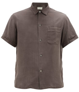 Editions M.R - Willy Short-sleeved Tencel Shirt - Dark Grey