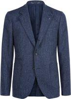 Jaeger Wool Herringbone Slim Jacket