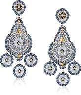 Miguel Ases Opalite 3-Drop Chandelier Earrings