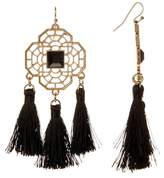 Natasha Accessories Cutout Tassel Drop Earrings