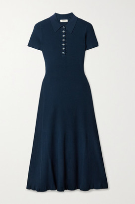 Jason Wu Ribbed Stretch-knit Midi Dress