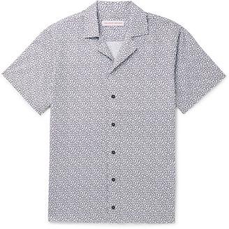 Orlebar Brown Travis Camp-Collar Printed Cotton And Linen-Blend Shirt