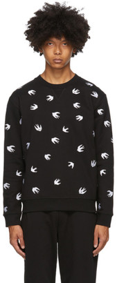 McQ Black Swallow Allover Sweatshirt