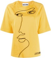 Moschino embroidered face detail T-shirt