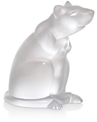 Lalique Rat Sculpture