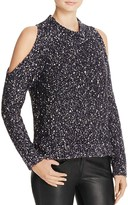Rebecca Taylor Open Shoulder Boucle Sweater