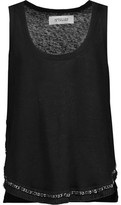 Derek Lam 10 Crosby Chain-Embellished Fringed Slub Linen Tank
