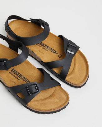 Birkenstock Women's Black Flat Sandals - Womens Rio Birko-Flor Narrow Sandals - Size 36 at The Iconic
