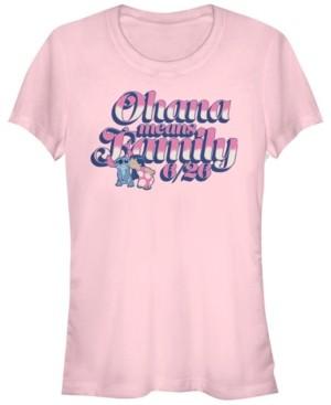 Fifth Sun Women's Disney Lilo Stitch Ohana Short Sleeve T-shirt