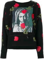 Marcelo Burlon County of Milan Chekkar poncho crewneck sweatshirt