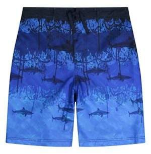 Tommy Bahama Boy's Shark Printed Swim Trunks