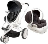 Quinny Moodd Stroller in Black Irony with 2015 Maxi-Cosi Mico Max 30 Infant Car Seat and Base, White/Black by