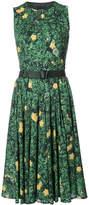 Akris floral print flared dress