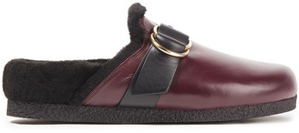 Joseph Diane Shearling-lined Leather Slippers