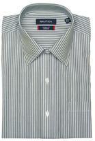 Nautica Men's Green Stripe Dress Shirt