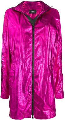 Karl Lagerfeld Paris Ikonik Metallic Parka coat