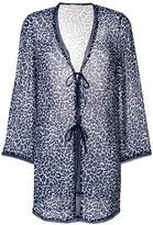 Tory Burch leopard print cardigan - women - Silk - XS