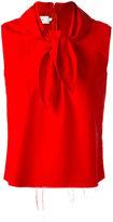 Marques Almeida Marques'almeida - knot detail sleeveless blouse - women - Polyamide - M