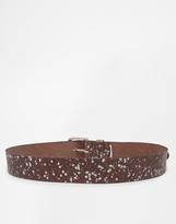 Pieces Frekse Glitter Leather Belt