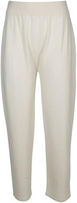 Agnona White Cashmere Track Pants