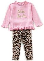Kate Spade Baby Girls 12-24 Months Long-Sleeve Sweater & Leopard Leggings Set