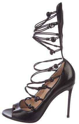 Gianvito Rossi Leather Caged Sandals