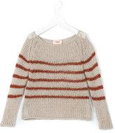 Maan - lurex stripe jumper - kids - Acrylic/Nylon/Mohair - 4 yrs