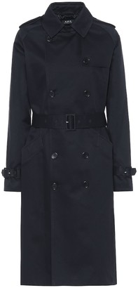 A.P.C. Greta cotton-gabardine trench coat