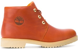 Timberland Logo Embossed Ankle Boots