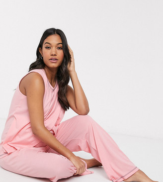 ASOS DESIGN Maternity mix & match jersey pyjama nursing tank with overlock