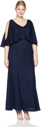 Marina Women's Plus Size Popover Gown