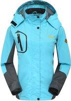 Wantdo Women's Outdoor Windbreaker Waterproof Windproof Rain Jacket