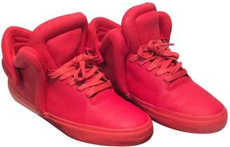 Supra Red Rubber Trainers