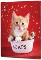 LEOTIE Tin Sign XXL Cat Kitten soap dish