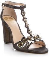 Vince Camuto Serafine Jeweled Suede T-Strap Sandal