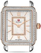 Michele Deco II Rose Gold Diamond Dial Watch Head, 26 x 27.5mm