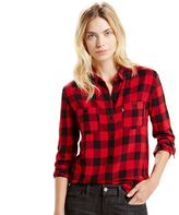 Levi's Women's Workwear Plaid Boyfriend Shirt