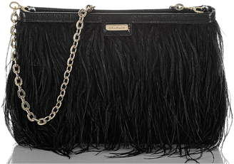 Brahmin Mod Lorelei Feather & Lizard Embossed Leather Shoulder Bag