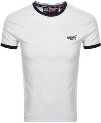 Superdry Orange Label Cali Logo T Shirt White