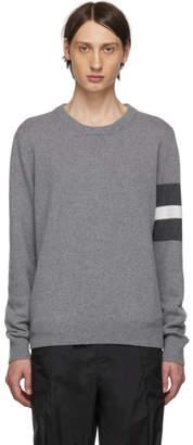 Maison Margiela Grey Stripes Crewneck Sweater