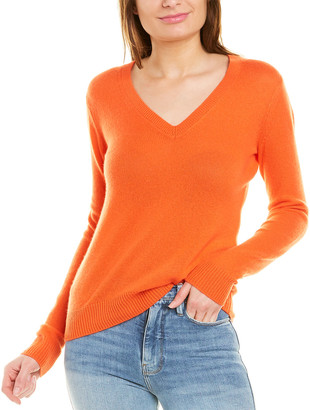 Theory V-Neck Feather Cashmere Sweater