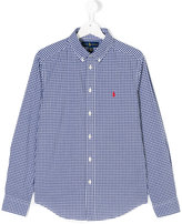 Ralph Lauren classic checked shirt - kids - Cotton - 14 yrs