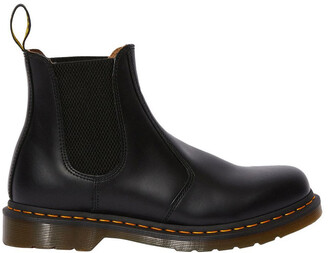 Dr. Martens 2976 Yellow Stitch Smooth Black Boot
