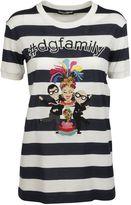 Dolce & Gabbana White/blue Designer's Patch T-shirt