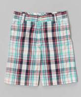 E-Land Kids Sea Glass Plaid Shorts - Toddler & Boys
