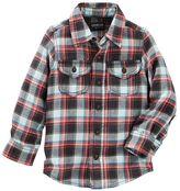 Osh Kosh Boys 4-8 Two-Pocket Plaid Button-Down Shirt
